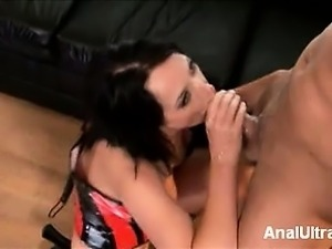 Dirty babe Melissa Lauren spreads her sexy creamy thighs and shows off her...