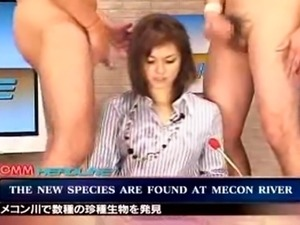 japanese news reader bukkake featuring maria ozawa