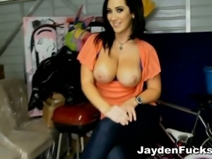 Jayden james goes topless during an interview