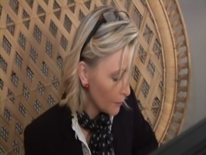 Hot french business lady getting double penetrated free