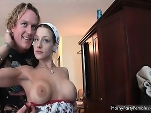 Big tits horny party girl showing part5