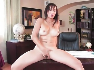 Katsuni with massive boobs and bald twat rubs her honeypot like it aint no thing