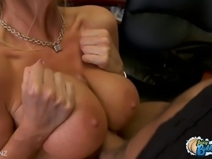 Horny bubblebutt beauty gets pounded by a massive cock!