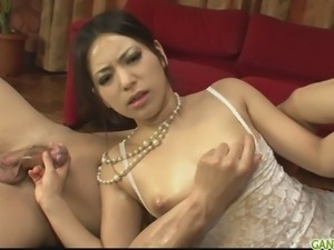 Gorgeous babe in sexy lingerie gagging two hard cocks. This one hot-fuck and...