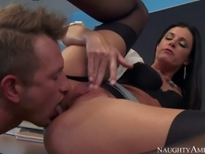 Teacher India Summer is a lovely tall skinny woman with long legs that...