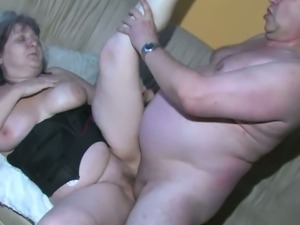 Chubby old lady washed by nurse and fucked hard