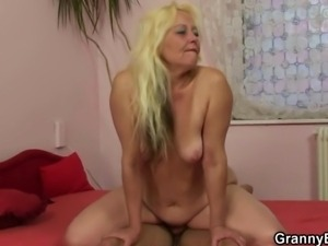 She enjoys riding his hard young cock