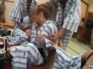 Horny group of Japanese men abusing part6