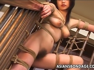 Craving Japanese cutie groans while her randy master is playing with her...