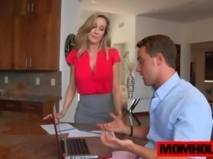 MILF Brandi Love gets to please the dudes big cock