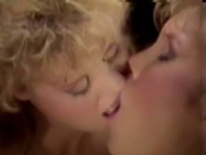 Old school video of blonde lesbians making out