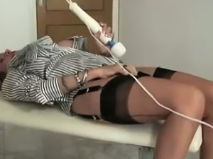 Lady Sonia using toy vibrator