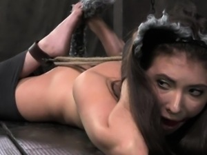 Cat play lezdom submissive hogtied