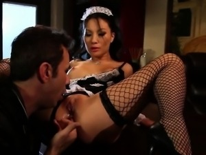 very sexy asian maid