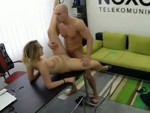 Fucking blonde secretary in the office