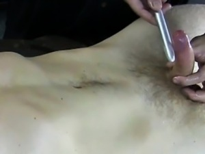 Straight dude lets gay pal toy his cock