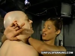 Pathetic dad submits to hot mistress