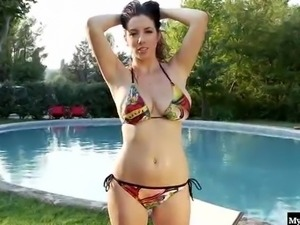 Brunette with big boobs, Jelena Jensen,