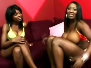 Big boobed lezzie and beautiful black girlfriend make a porn