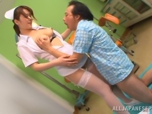 japanese nurse gives an amazing titfuck