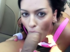 Road Head From a Stranded Latina Teen Nadia Capri