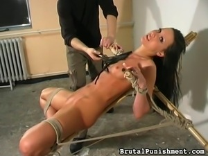 slut gets a brutal whipping