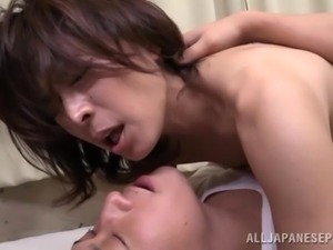 she takes his cock deep inside