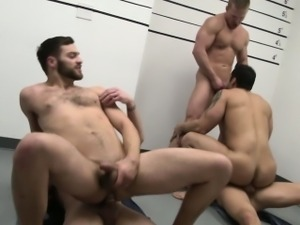 Marcus Ruhl in a five way prison orgy
