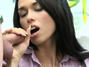 Hot pretty girls shave large dong