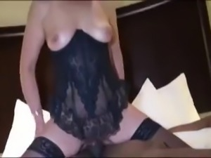 husband fillms his Wife take black cock in her ass