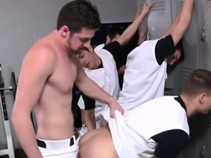 Assfucking orgy fun for athletic gay hunks