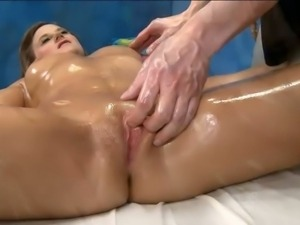 Kymber Lee get oiled and fucked hard