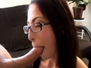 Sexy chick has her smooth muff filled up by a pole