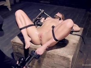 the bondage device works for slutty ariel