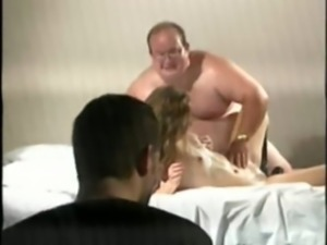 Guy Forced To Watch His Wife Fucked Hard By A Huge Chubby Man free