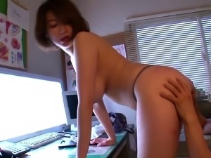 Ardent rear pounding scene with horny Japanese mom Mio Takahashi