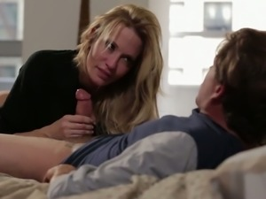 Superb blonde mommy Jessica Drake loves sex in doggy style