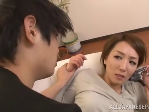 Husband is desperate to fuck his hot Japanese housewife