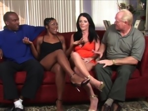 Sexy ladies have a foursome with two horny guys