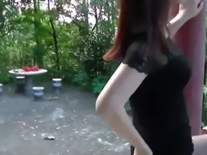 Chinese wife fuck public