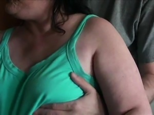 Groping her tits 2