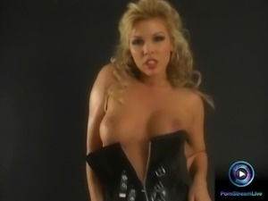 Busty Ginger Jones having fun time with her sex toy