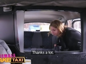 Female Fake Taxi Skinny sexy Czech lesbians with great tits have strap on fun...