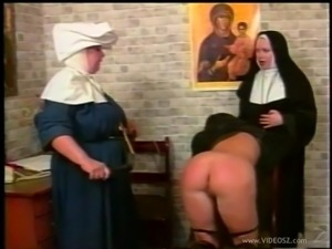Horny nun getting her nice ass spanked in a spicy reality shoot