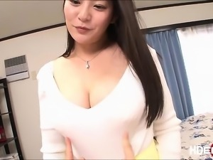 Asian babe Meguri gets eaten and fuck from behind
