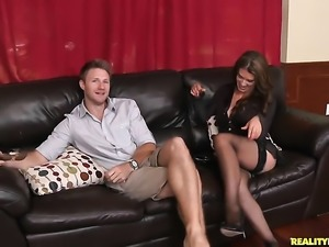 Levi Cash is horny and cant wait no more to bang breathtakingly hot Leena...