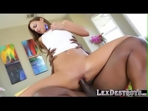 Beautiful long haired Amira Adara gets fucked by Lexington Steele