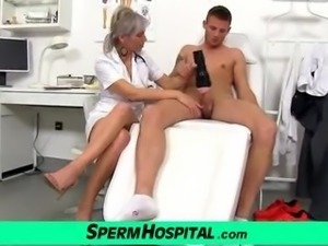 CFNM exam and handjob feat. Czech milf Beate