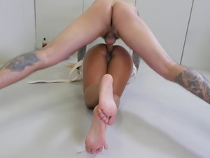 Big-ass Latina gets a rude, brutal ass fuck from a huge cock