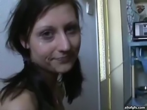 Ugly brown head ratty bitch swallows stinky cock deep throat